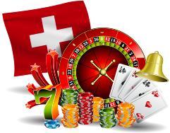 drapeau suisse jeux casino jetons cartes