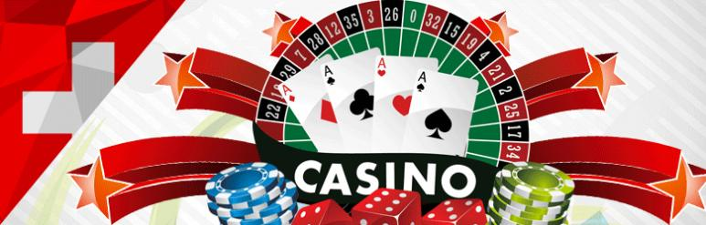 drapeau suisse jeux casino jetons cartes frise